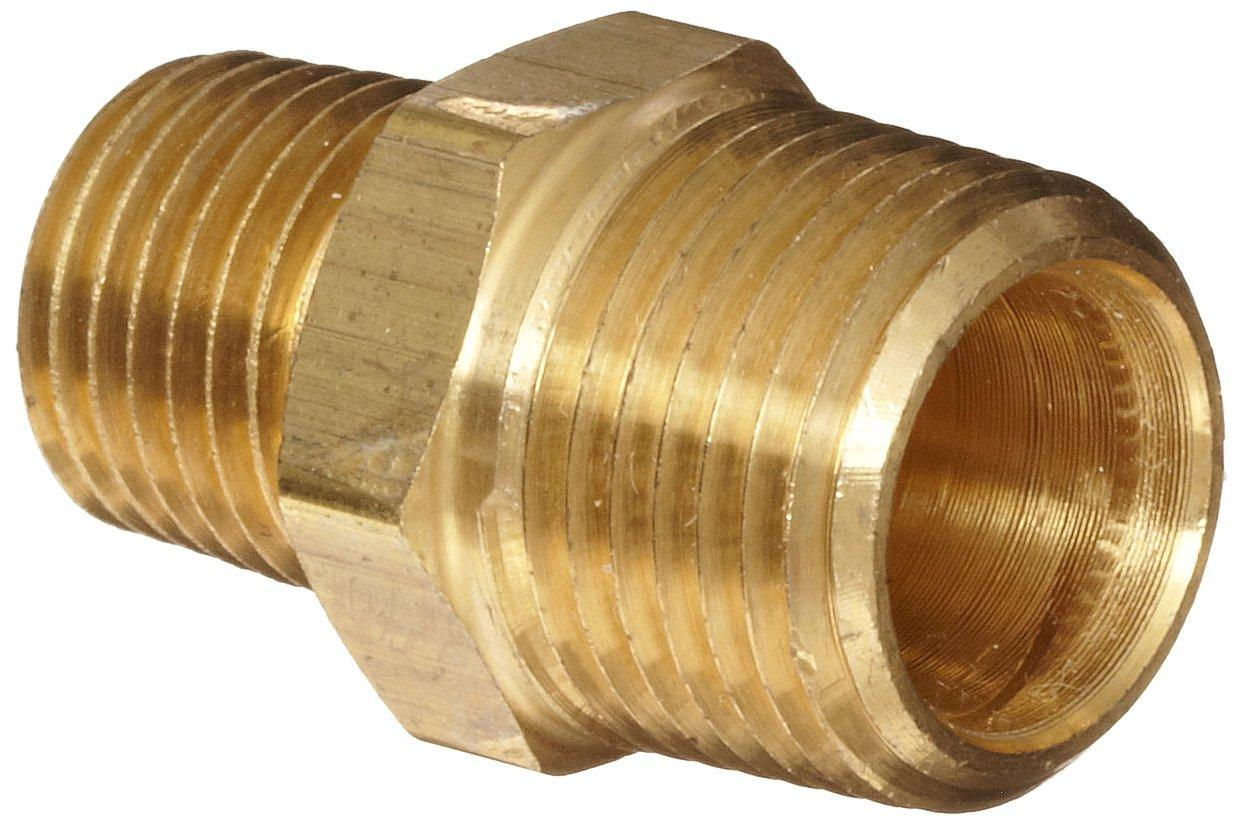 Cored Plug 1//2 Male Anderson Metals Brass Threaded Pipe Fitting