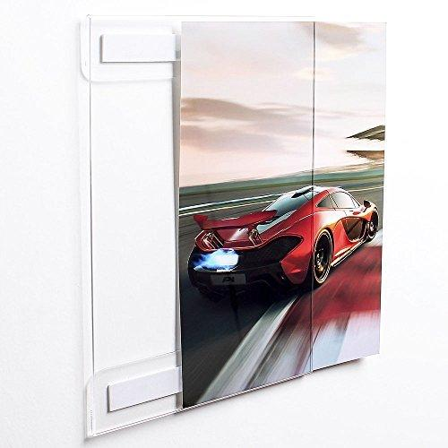 Display4top 6 Pack of Wall Mount Portrait Clear Acrylic Sign Holders with 3