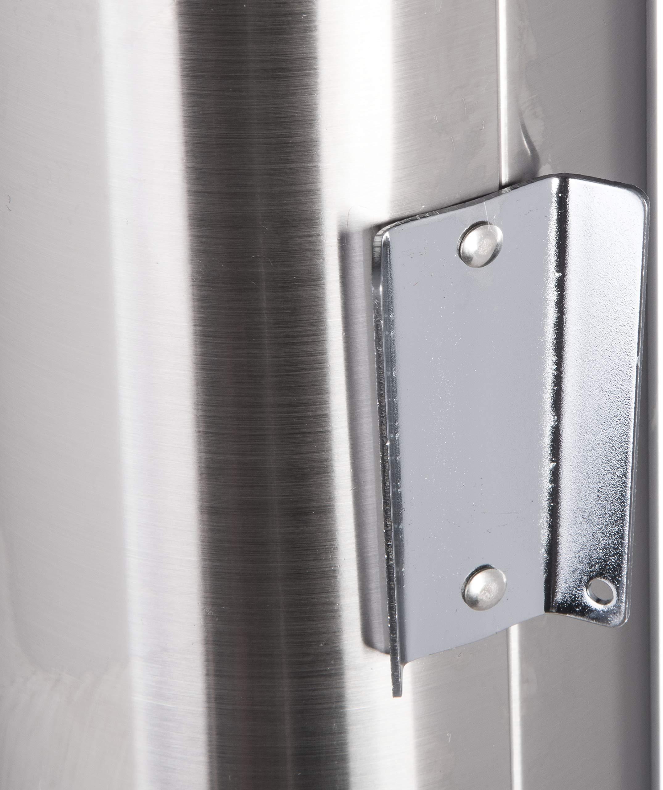 San Jamar C3400P 12-24 oz Stainless Steel Pull Type Beverage Cup Dispenser...