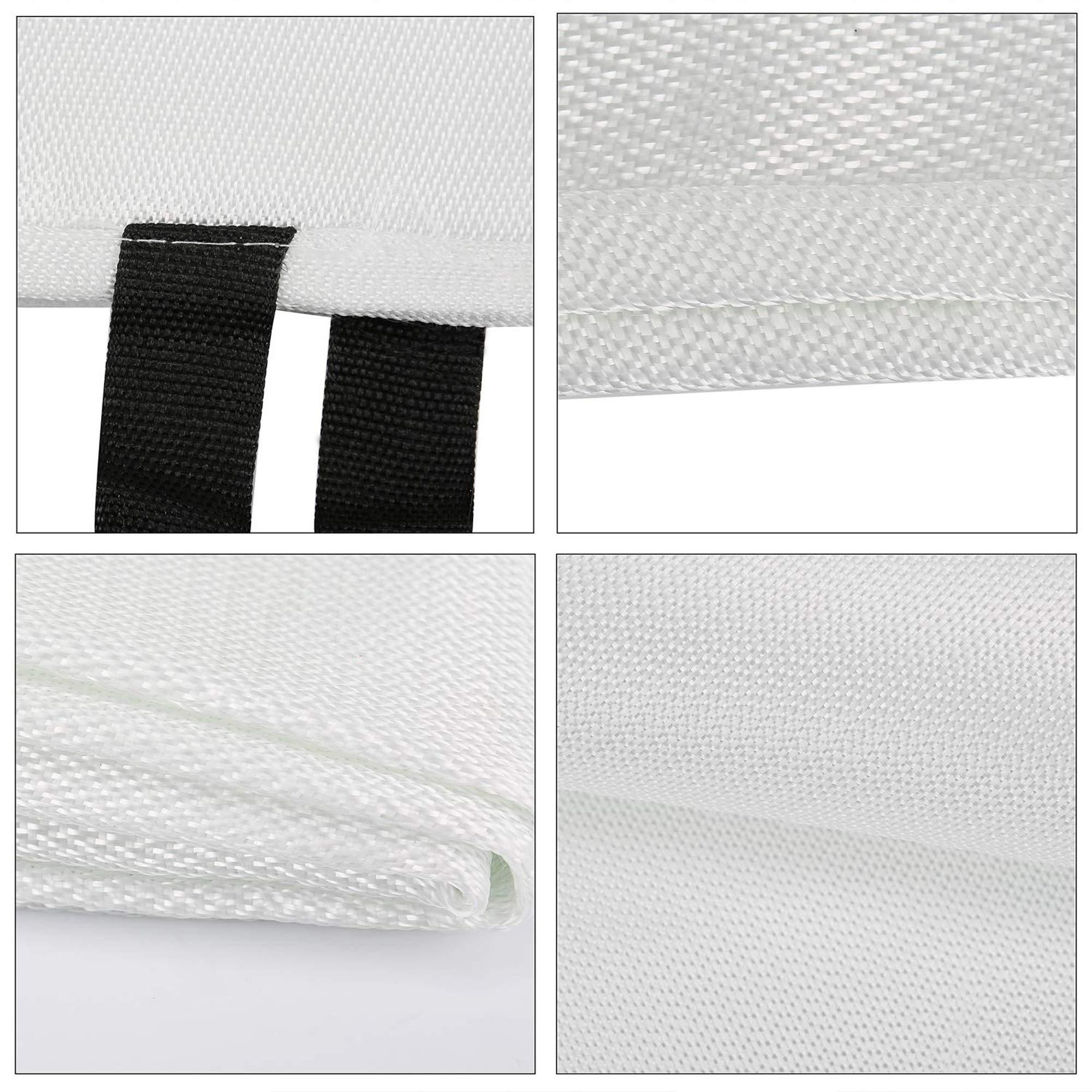 39.3/×39.3 Inches Tonyko/® Fiberglass Fire Blanket 70.9/×70.9 Inches 47.2/×47.2 Inches 39.3/×39.3 Inches S 59/×59 Inches