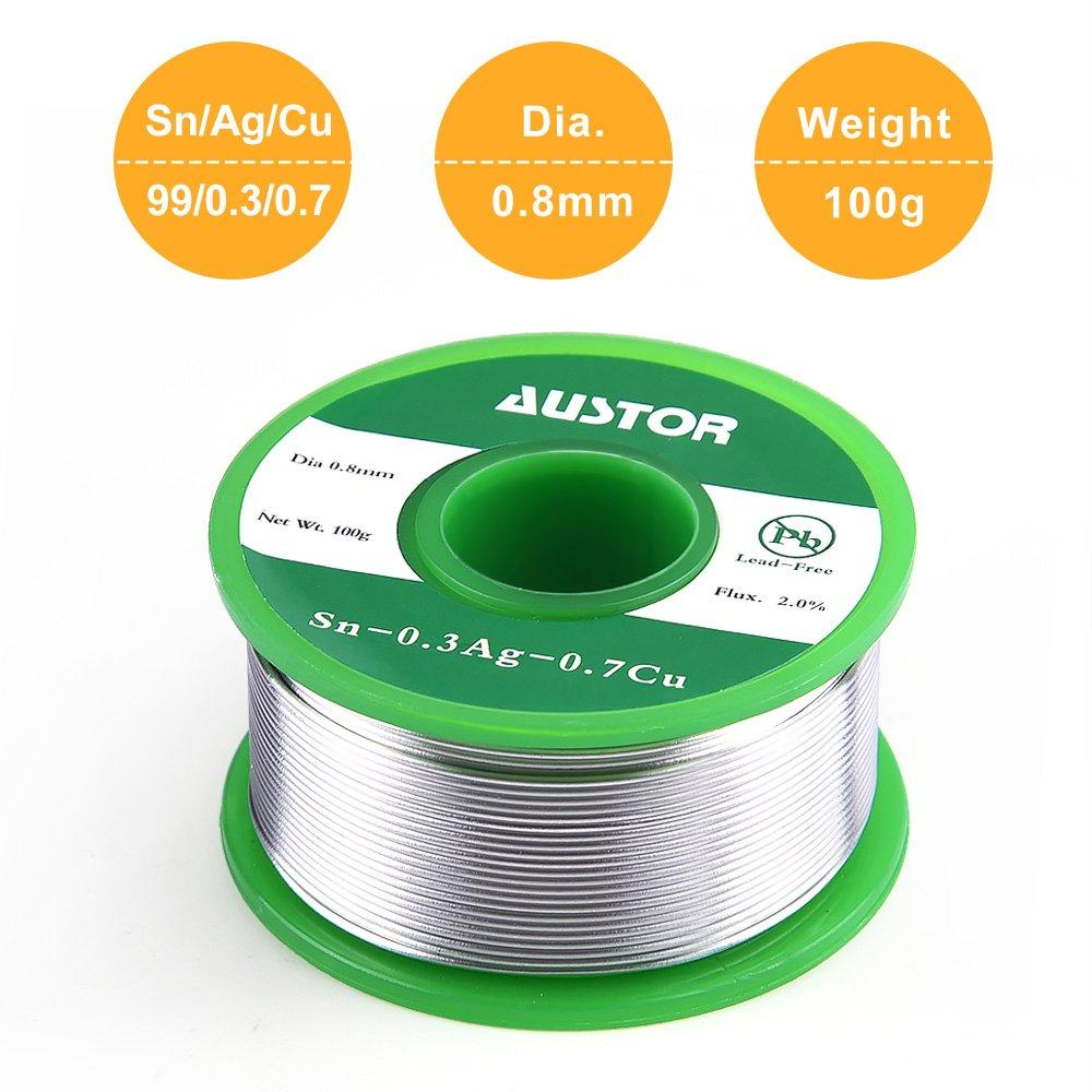 Tin Lead Rosin Core Solder Soldering Welding Iron Wire 0.8mm Reel T Devices E4G2