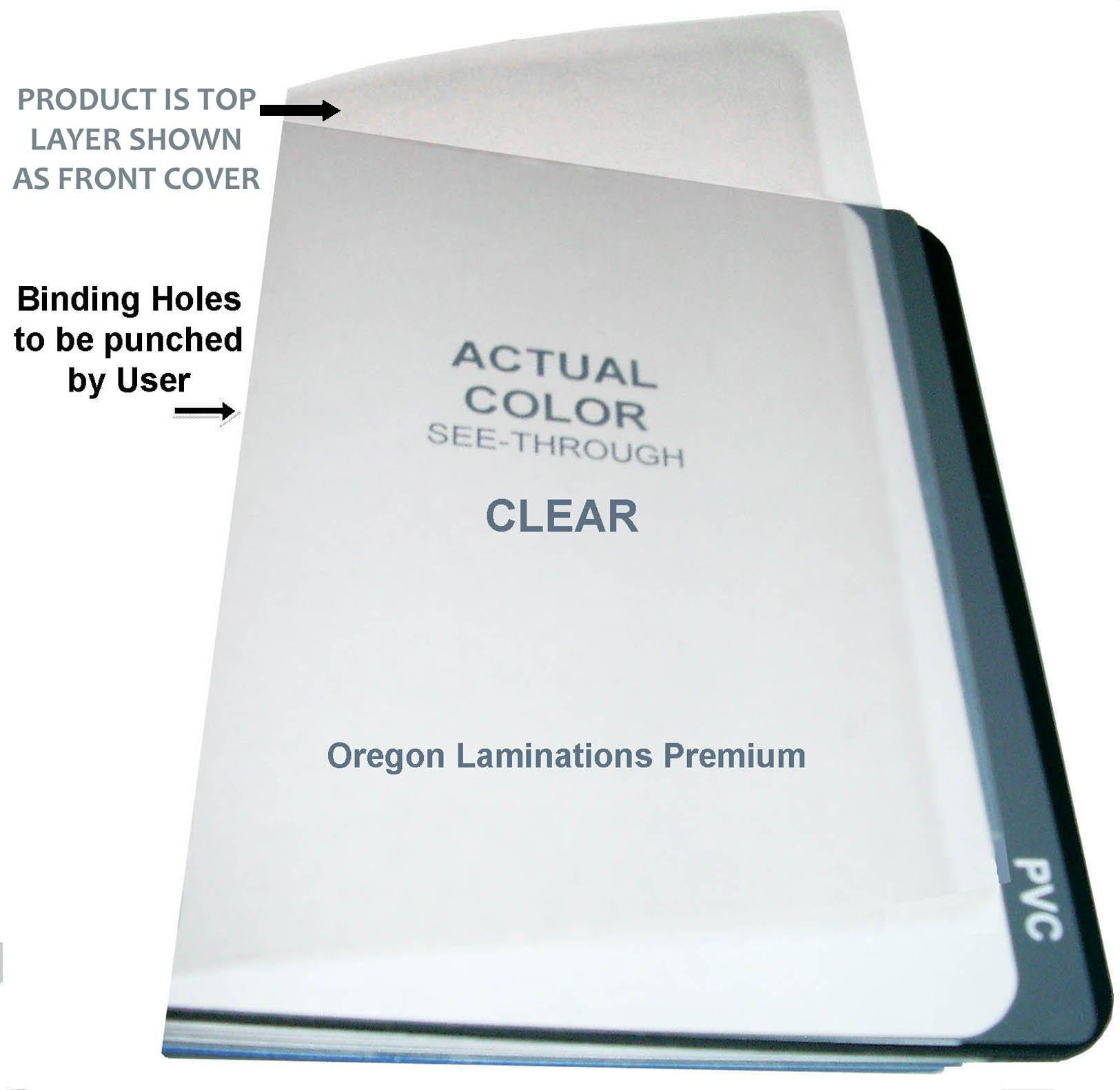 Qty 100 Clear Plastic Report Binding Covers 10 Mil 8-1/2 X