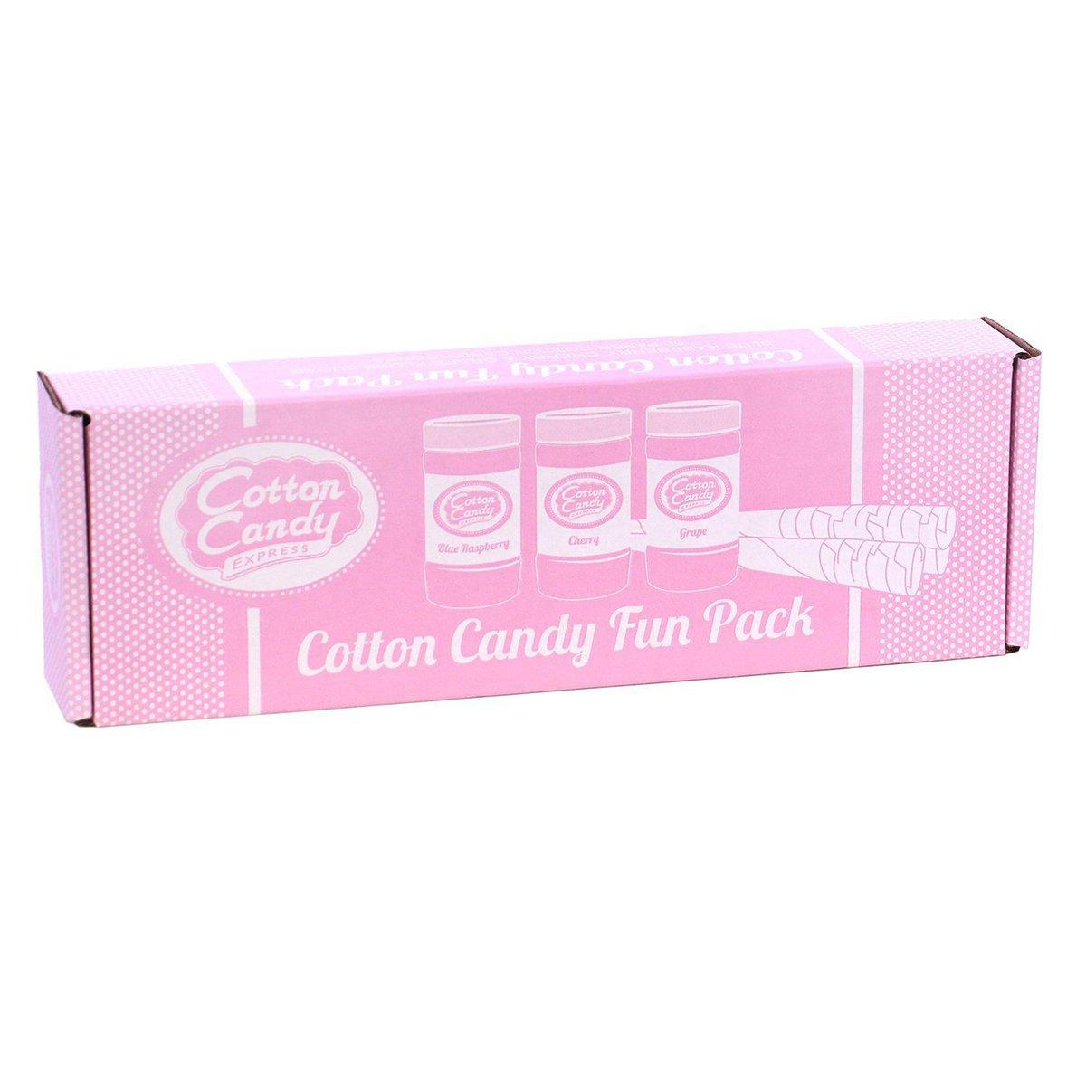 Cotton Candy Floss 50-Cones Flossine Sugar Flavoring Machine Maker Supplies Kit