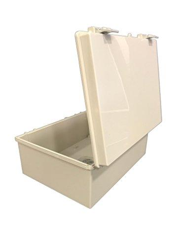 15-47//64 Length x 11-51//64 Width x 6-9//32 Height Light Gray Finish BUD Industries NBF-32026 Plastic ABS NEMA Economy Box with Solid Door