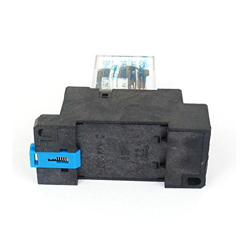 Uxcell s13052300am0141 DC 12V Coil 5A 3PDT General Purpose Power Relay HH53P 11 Pin w Base Socket